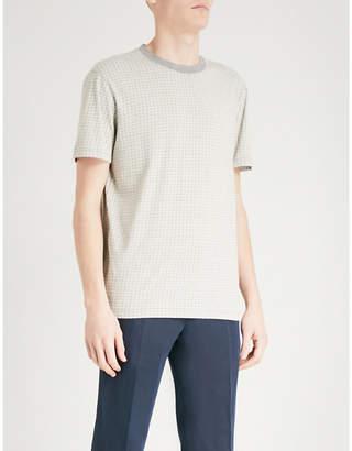 BOSS ORANGE Geometric-print cotton-jersey T-shirt