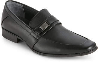 Calvin Klein Black Brighton Apron-Toe Loafers