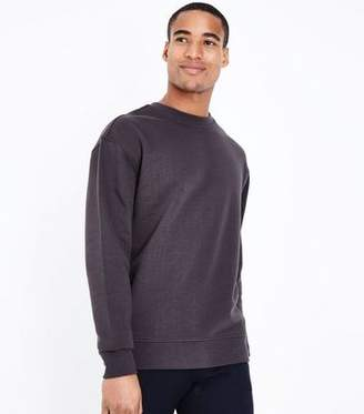 New Look Dark Grey Crew Neck Sweatshirt