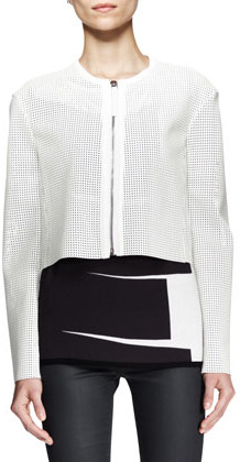 Helmut Lang Sift Perforated Crop Jacket