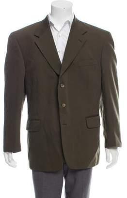Oscar de la Renta Wool Three-Button Blazer