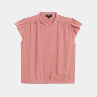 Shirred Yoke Short-Sleeve Shirt