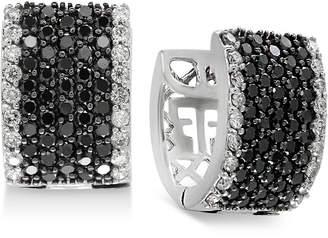 Effy Diamond Huggy Hoop Earrings (2 ct. t.w.) in 14k White Gold