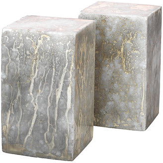 Jamie Young Set of 2 Marble Slab Bookends - Marble