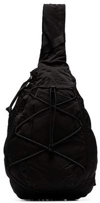 C.P. Company black single strap backpack