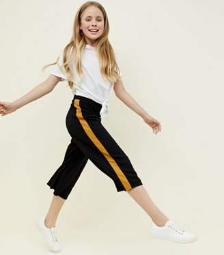 New Look Teens Black Stripe Side Culottes