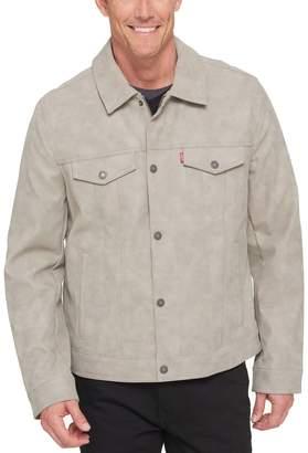 Levi's Levis Men's Faux-Leather Trucker Jacket