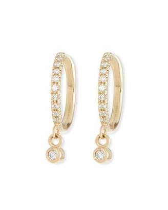 Chicco Zoe 14k Diamond Huggie Hoop Drop Earrings