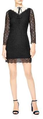 Sandro Cristina Mixed Lace Mini Dress