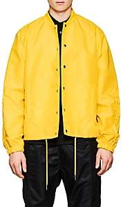 Helmut Lang Men's Ruched-Sleeve Nylon Coach's Jacket - Yellow