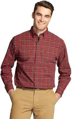 Izod Men's Classic-Fit Tartan Plaid Poplin Button-Down Shirt