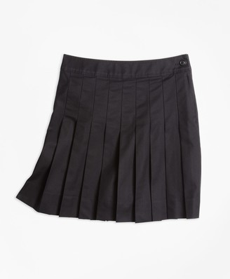 Brooks Brothers Girls Pleated Chino Skirt