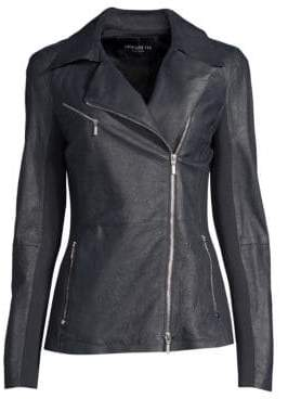 Lafayette 148 New York Elwood Leather Moto Jacket