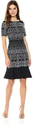 Adrianna Papell Women's Lace Majesty Drop Waist Fit N Flare