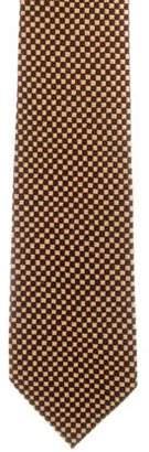 Charvet Silk Check Print Tie