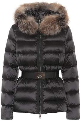 Moncler Tatie down jacket with fox fur