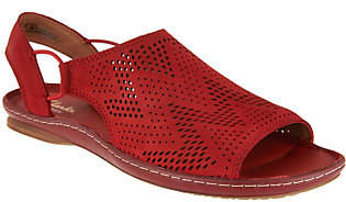 Clarks Artisan Leather Perforated Slip-onSandals - Sarla