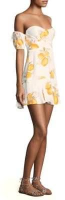 For Love & Lemons Lemonade Off-The-Shoulder Flounce Dress