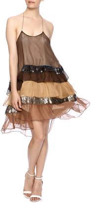 Natalia Romano Silk Ombre Dress