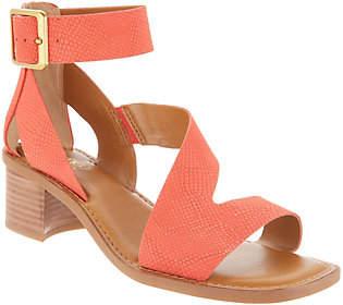 Franco Sarto Leather Block Heel Sandals- Lorelia