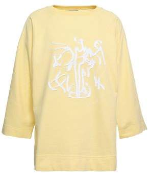 Nina Ricci Embroidered French Cotton-terry Sweatshirt