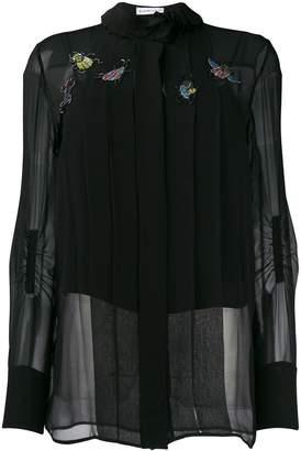 Carven bug-appliquéd blouse