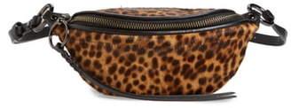 Rebecca Minkoff Mini Bree Leopard Print Genuine Calf Hair Belt Bag