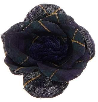 hook + ALBERT Plaid Poplin Lapel Flower