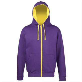 AWDis Hoods Full Zip Hoodie with Contrasting Liner and Zip - M