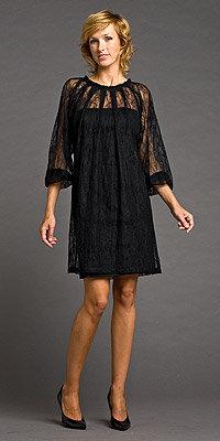 Black Lace Long Sleeve Dresses by Tara Jarmon