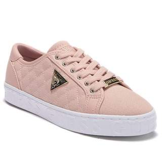 GUESS Graceen Quilted Lace-Up Sneaker