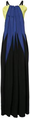 Issey Miyake pleated colour block dress