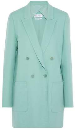 Max Mara Double-Breasted Wool And Angora-Blend Coat