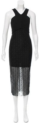 Sandro Crochet-Embroidered Overlay Dress $75 thestylecure.com