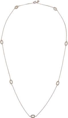 Sydney Evan 14k White Gold Diamond Oval-Station Necklace