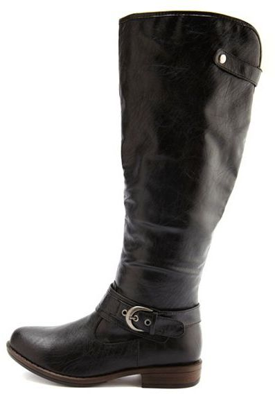 Charlotte Russe Knee-High Ankle Strap Boot