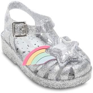Mini Melissa Glittered Rubber Sandals