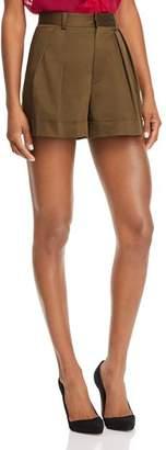 Alice + Olivia Conry Pleated Cuffed Shorts