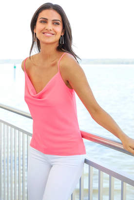 A Love Like You Neon Pink Cowl Neck Tank Top Pink XS