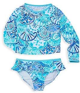 5024b7eb8f Lilly Pulitzer Little Girl's & Girl's Print UPF 50+ Rashguard & Swim ...