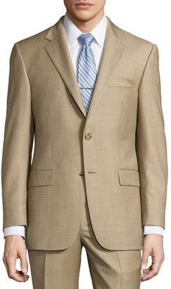 Hickey Freeman Classic-Fit Lindsey Two-Piece Sharkskin Suit, Brown $699 thestylecure.com