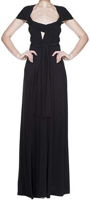 IBTOM CASTLE Women's Transformer/Wrap Infinity Solid Maxi Cocktail Dress