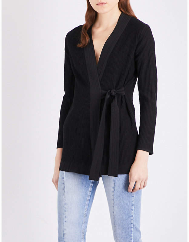 Sandro Wrap knitted cardigan
