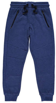George Blue Ribbed Panel Joggers