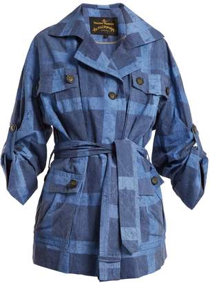 Vivienne Westwood Safari checked tie-waist cotton jacket