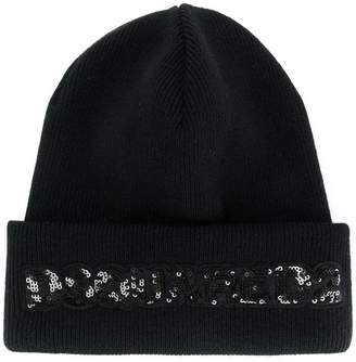 DSQUARED2 sequinned logo beanie
