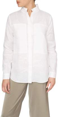 Just Female White Linen Shirt