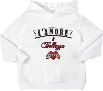 Dolce & Gabbana Printed Cotton Sweatshirt Hoodie