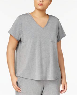 Alfani Plus Size Chiffon-Trimmed Pajama T-Shirt