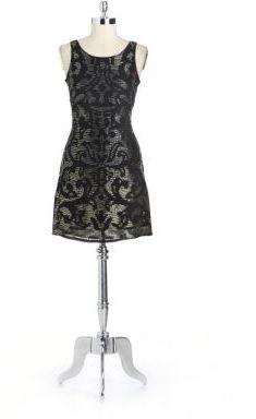 Yoana Baraschi Embellished Silk Sheath Dress